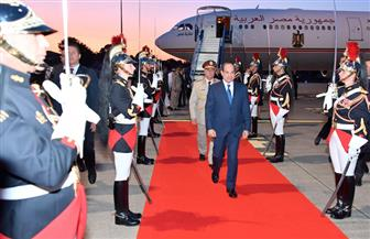 """الرئيس السيسي يصل إلى مدينة """"بياريتز"""" الفرنسية للمشاركة في قمة مجموعة الدول السبع  صور وفيديو"""
