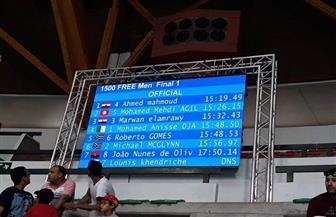 """"""" أكرم"""" يحصد ذهبية ١٥٠٠ متر حرة و""""القماش"""" برونزية في دورة الألعاب الإفريقية"""