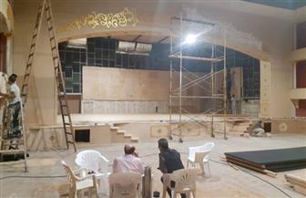 محمد صبحي ينشئ مسرحا جديدا بمدينة سنبل | صور