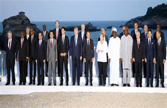 """صورة تذكارية لقادة العالم المشاركين في قمة """"مجموعة السبع"""""""