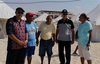 رئيس جامعة الإسكندرية يتفقد معسكر باجوش استعدادا للبطولة الشاطئية للجامعات | صور