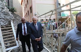 محافظ الجيزة يتفقد أعمال صيانة المدارس استعدادا للعام الدراسي | صور