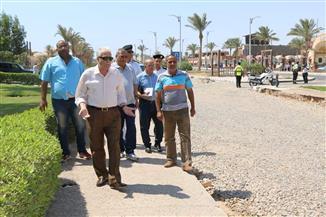 محافظ جنوب سيناء يتفقد رصف وتجميل الطرق بشرم الشيخ ويشدد على سرعة الانتهاء من التنفيذ| صور