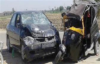 إصابة 4 مواطنين فى حادث تصادم على طريق (البوصيلي - رشيد) في البحيرة