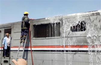 السيطرة على حريق محدود بقطار الإسكندرية المتجه لبورسعيد | صور