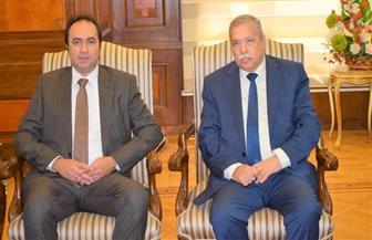 المستشار عصام المنشاوي يستقبل نائب وزير التربية والتعليم | صور