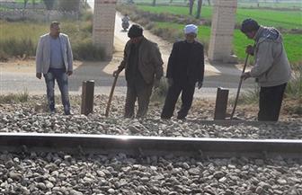 إغلاق 3 معابر غير قانونية بنطاق السكة الحديد بطنطا