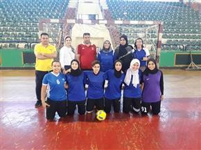 فوز منتخب الكرة الخماسية لطالبات جامعة المنصورة في نهائي بطولة الجامعات المصرية | صور