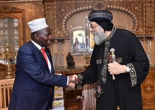 البابا تواضروس يستقبل أمين المظالم بدولة بوروندي والوفد المرافق له | صور