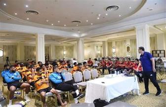 جمال الغندور يحاضر فريق التقدم السعودي فى التعديلات الجديدة لقانون كرة القدم