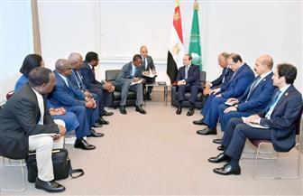 """الرئيس السيسي يلتقي نظيره الزامبي على هامش انعقاد قمة """"تيكاد 7"""""""