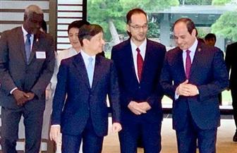 الرئيس السيسي يلتقي إمبراطور اليابان ناروهيتو| صور
