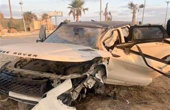 عمرو زكي يتعرض لحادث مروع على طريق الساحل الشمالي  صور