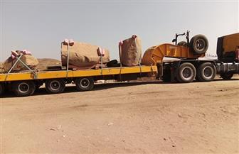 """""""الآثار"""": وصول مسلة للملك رمسيس الثاني إلى القاهرة قادمة من صان الحجر  صور"""
