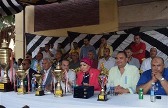 تكريم أسر الشهداء في نهائي أقدم دورة رياضية بكفر الشيخ |صور