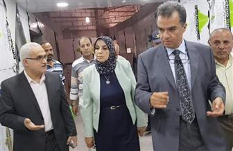 ميرفت عسكر تتفقد أعمال تجهيز مستشفى العبور بقطاع صيدناوي بالمستشفيات الجامعية | صور