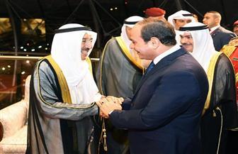 متحدث الرئاسة ينشر صور وصول الرئيس السيسي إلى الكويت