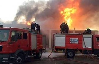 إخماد حريق بمحلين لبيع المحمول في الفيوم