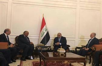 رئيس الوزراء العراقي يستقبل وزراء خارجية مصر والأردن  والعراق