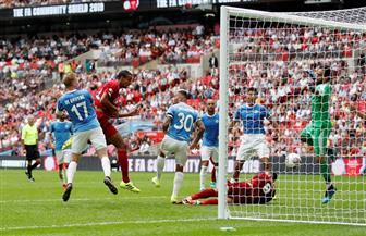 ماتيب يحرز هدف التعادل لليفربول في شباك مانشستر سيتي