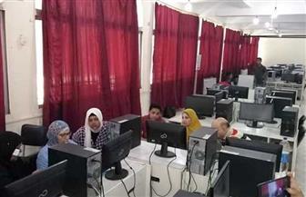 477 طالبا يسجلون رغبات القبول بالجامعات بمعامل تنسيق جامعة حلوان