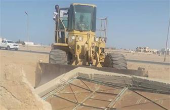 استعادة أكثر من 6 آلاف متر من أراضي الدولة بمدينة الشلاتين | صور
