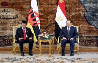 الرئيس السيسي يستقبل سلطان بروناي بقصر الاتحادية