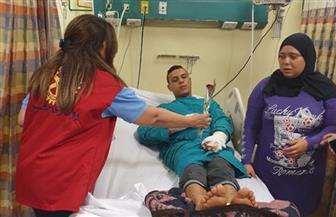 لجنه الإغاثه من الكوارث بروتاري مصر تزور مصابي حادث معهد الأورام
