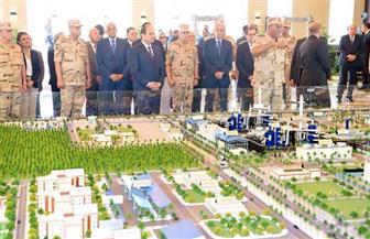 الرئيس السيسي يفتتح مشروع مجمع الأسمدة الفوسفاتية والمركبة بالعين السخنة