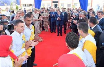 الرئيس السيسي يصل مقر افتتاح مجمع الأسمدة الفوسفاتية والمركبة بالعين السخنة
