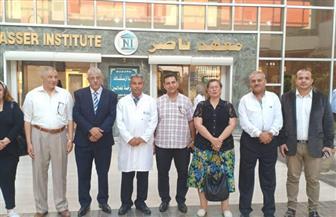 وفد من حزب الحرية المصرى يزور مصابى حادث معهد الأورام | صور