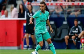 هازارد سعيد بتسجيل هدفه الأول بقميص ريال مدريد