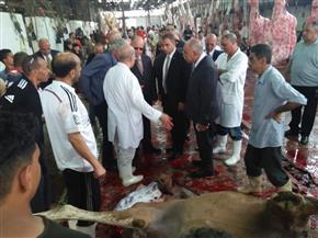 محافظ القاهرة يتفقد المجزر الآلي في البساتين ويستفسرعن أسعار اللحوم| صور