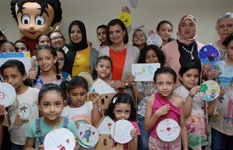 مجلة علاء الدين تقدم ورشة فنية للأطفال والآباء معا | صور