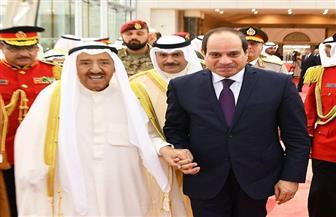 """انطلاق القمة """"المصرية - الكويتية"""" بين الرئيس السيسي وأمير الكويت"""