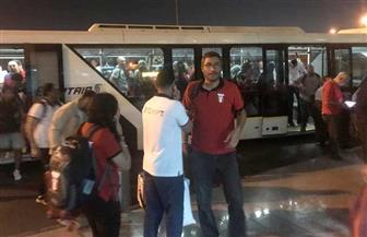 وصول البعثة الرسمية لدورة الألعاب الإفريقية إلى مطار القاهرة | صور