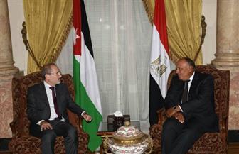 وزير الخارجية يستقبل نظيره الأردنى قبيل الاجتماع الوزارى لجامعة الدول العربية | صور