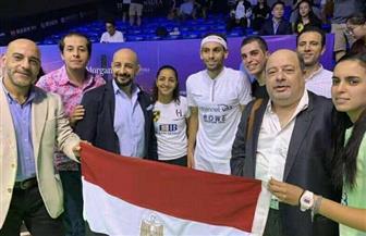 القنصلية المصرية في شنغهاي تؤازر لاعبي مصر خلال بطولة الصين المفتوحة للإسكواش| صور