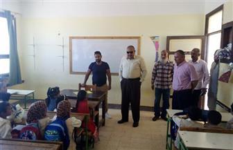 جولات تفقدية لوكيل التربية والتعليم بمطروح في مدارس النجيلة وبراني لمتابعة بدء الدراسة | صور