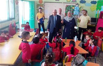 وكيل تعليم شمال سيناء يزور مدرسة الشهيد أحمد حمدي الابتدائية بالعريش في أول يوم دراسي | صور