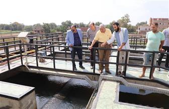 محافظ المنوفية يتفقد محطة مياه صنصفط ويوجه بحل مشكلة محابس الغسيل بالقرية | صور