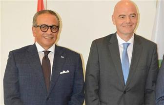 رئيس الفيفا يستقبل عمرو الجنايني