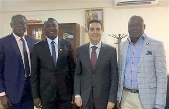 السفير المصري في أكرا يبحث فرص التعاون مع غانا في قطاع البترول   صور