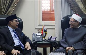 مفتي الجمهورية يستقبل وفدا إندونيسيا رفيع المستوى لبحث أوجه تعزيز التعاون الديني
