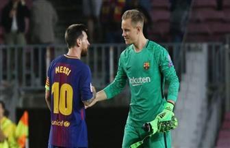 تير شتيجن: من حق ميسي تقرير مصيره مع برشلونة