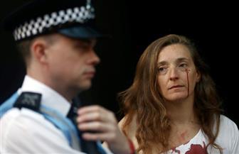 ملابس ملطخة بالدماء في أسبوع لندن للموضة| صور