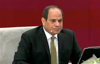 الرئيس السيسي: أنفقنا مبالغ كبيرة على بنك المعرفة.. والقرارات تصدر بالتشاور