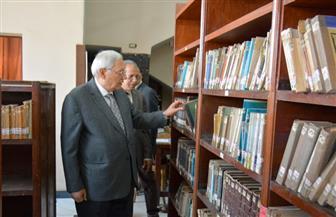 شاروبيم يزور مكتبة المنصورة العامة للمرة الأولى | صور