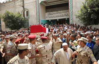 تشييع جنازة شهيد الواجب بقرية حصة الغنيمي بقلين | صور