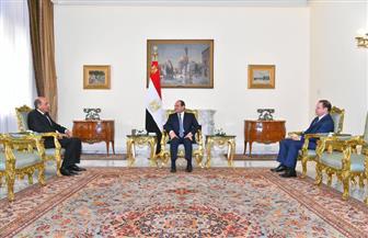 الرئيس السيسي يشهد أداء حلف اليمين لرئيس مجلس الدولة والنائب العام الجديدين | فيديو وصور